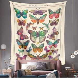 Boho Butterfly Aesthetic Wall Hanging Tapestry